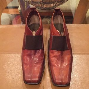 ✨Sesto Meucci Italian Leather two tone loafers